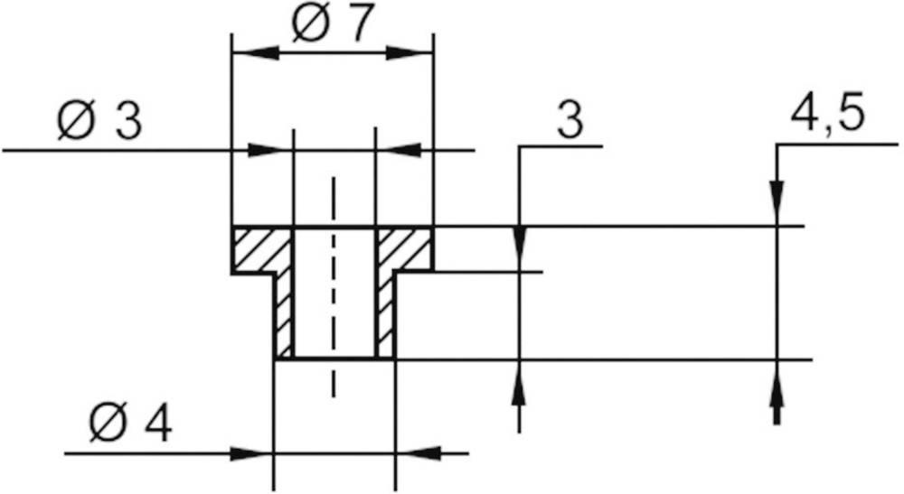 Izolirna podložka 1 kos V5815 ASSMANN WSW zunanji premer: 7 mm, 4 mm notranji premer: 3 mm