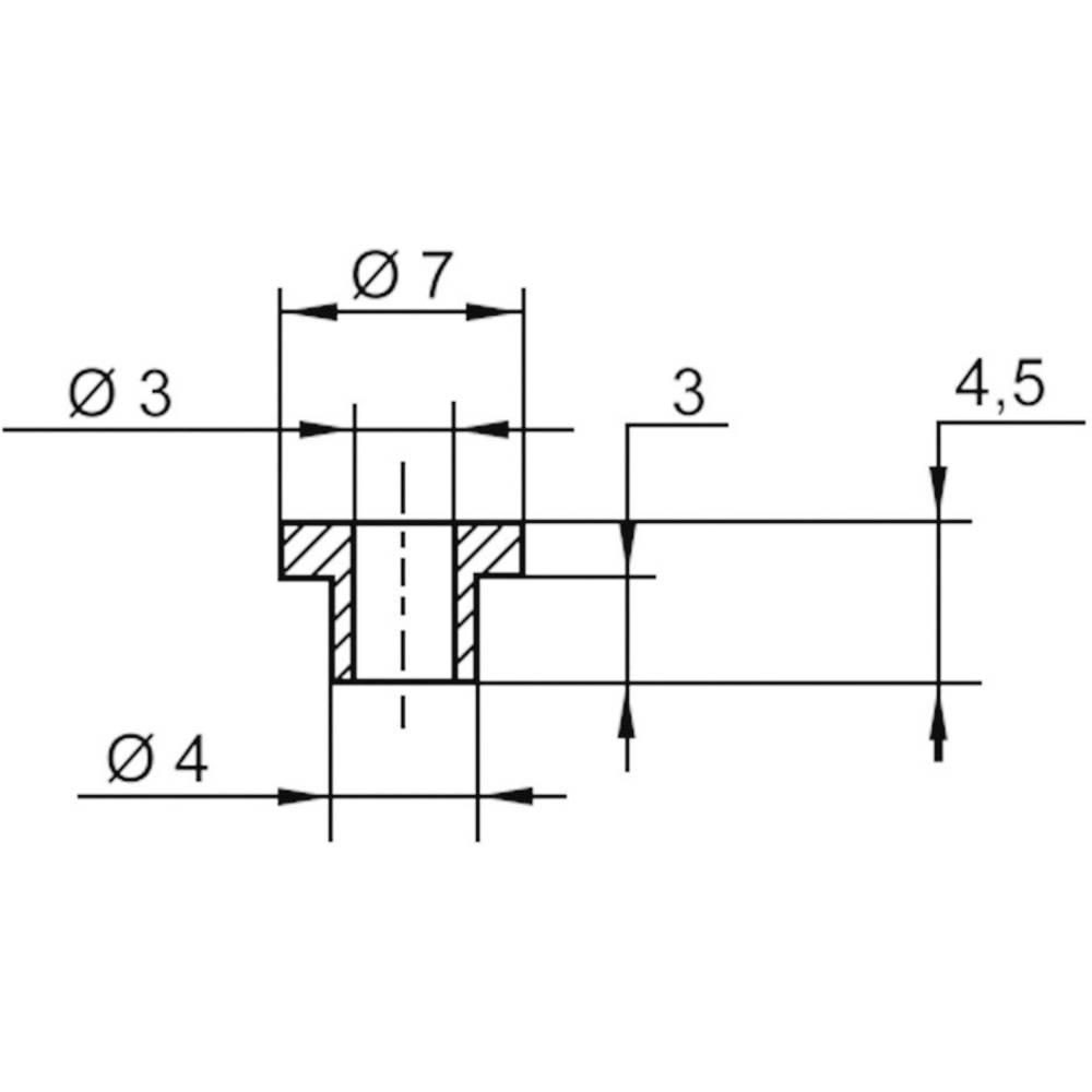 Izolirna podložka-vtičnica 1 kos TC-V5815-203 TRU Components zunanji premer: 7 mm 4 mm notranji premer: 3 mm