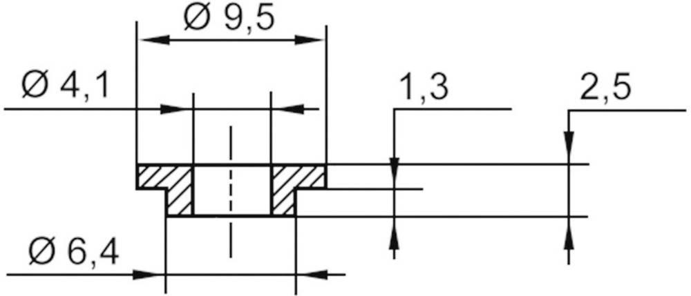 Izolirna podložka 1 kos V5818 ASSMANN WSW zunanji premer: 9.5 mm, 6.4 mm notranji premer: 4.1 mm