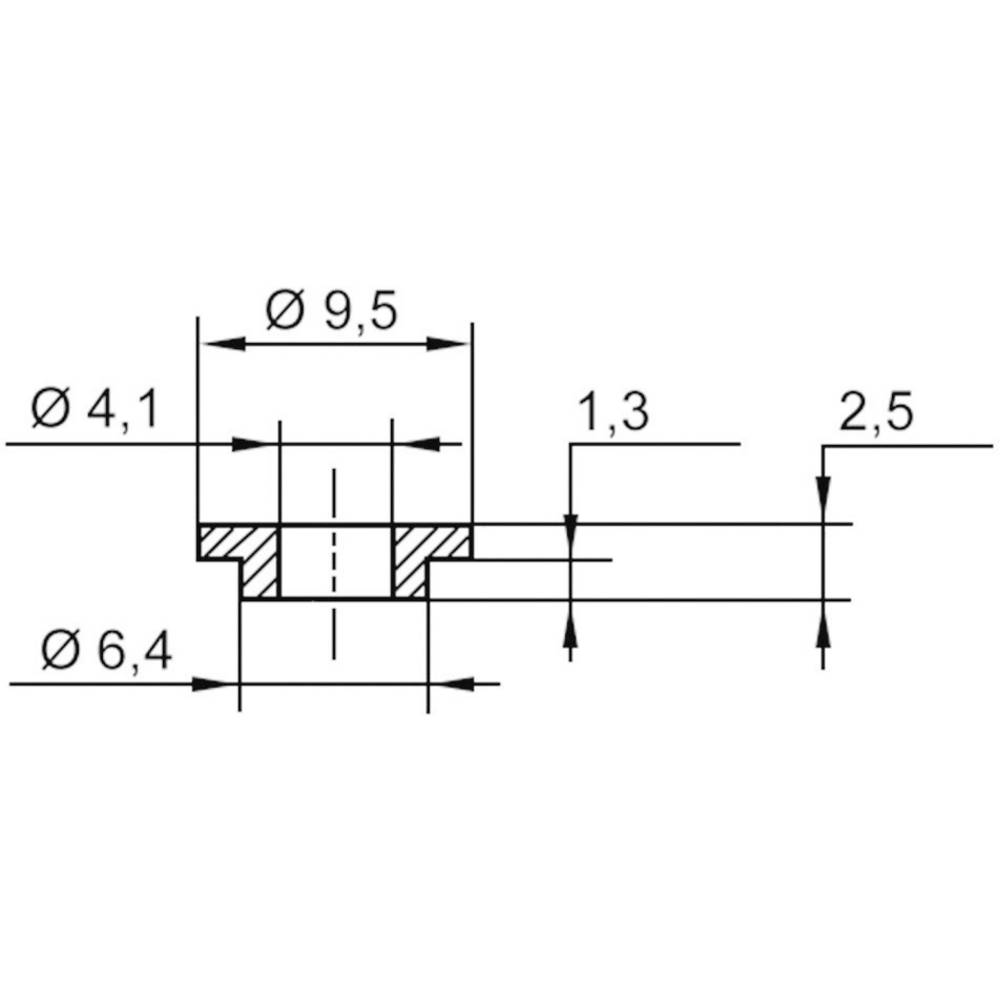 Izolirna podložka-vtičnica 1 kos TC-V5818-203 TRU Components zunanji premer: 9.5 mm 6.4 mm notranji premer: 4.1 mm