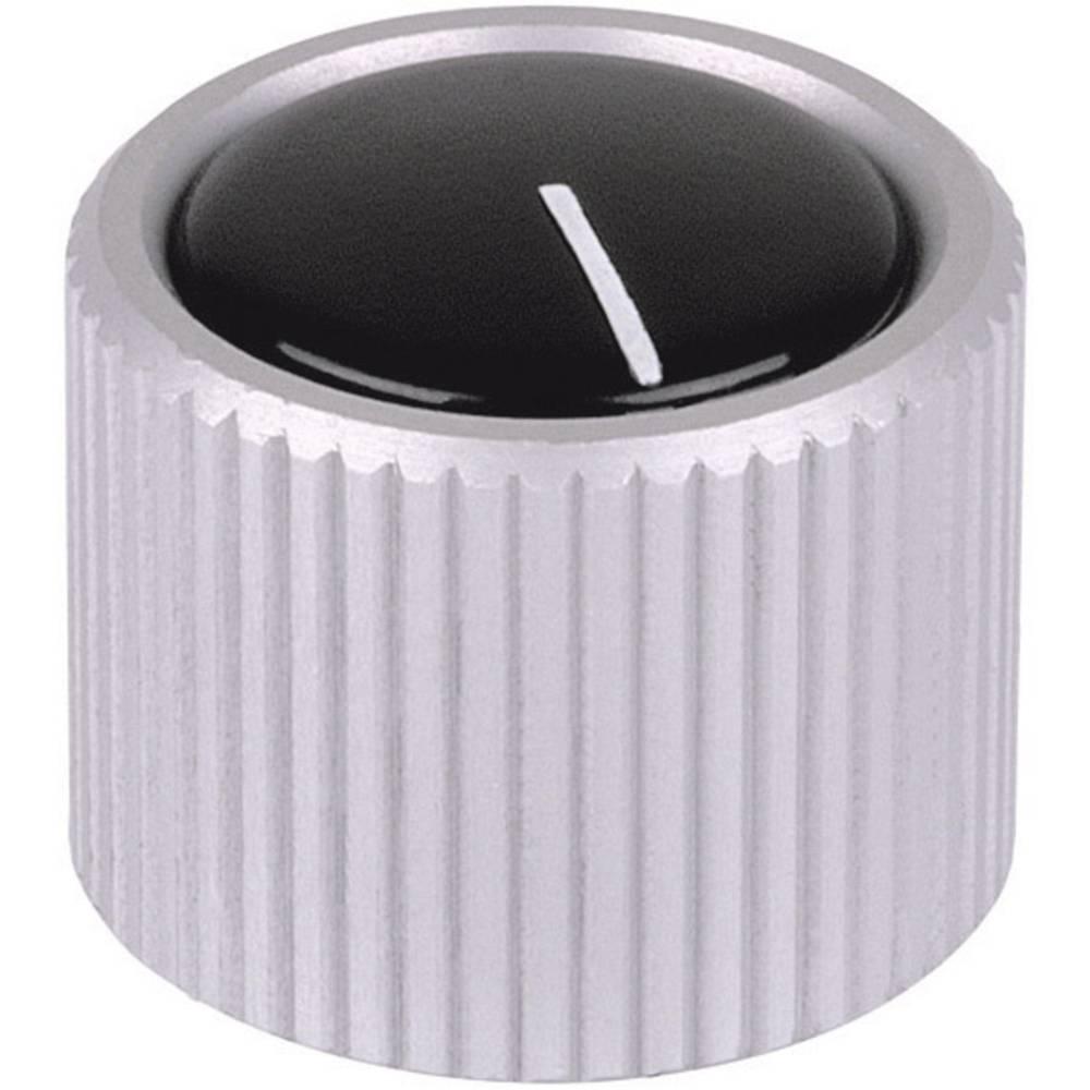 Mentor metalni gumb s napravebez sojemalnika, transparentan(eloksirana), 4mm 531.4