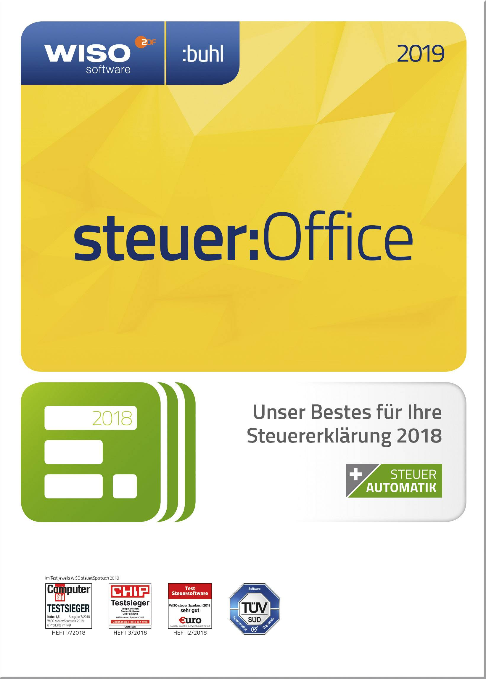 WISO steuer:Office 2019 Full version, 1 license Windows