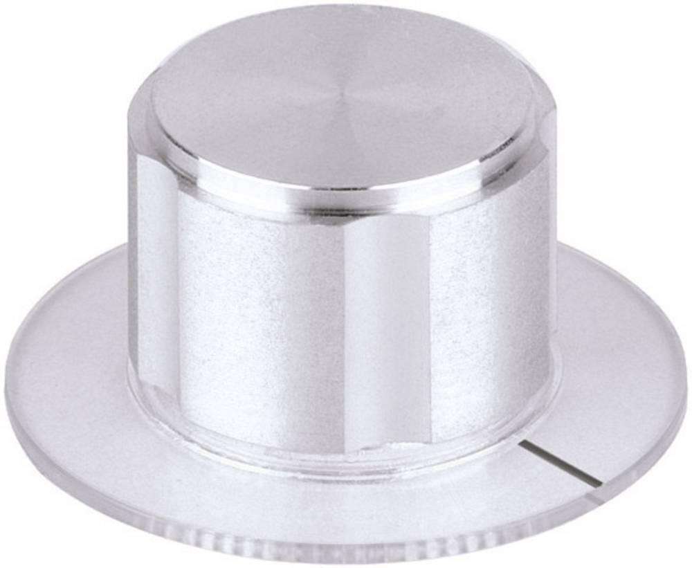 Mentor metalni gumb metalni gumb D20 aluminij promjer osi 6mm 5572.6000