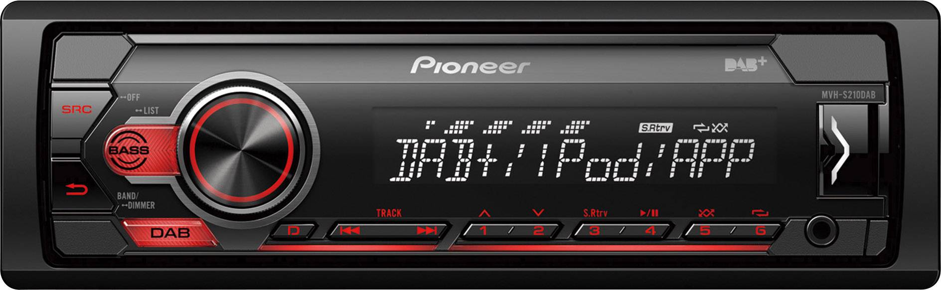 Pioneer mvh-s210dab 1din autorradio