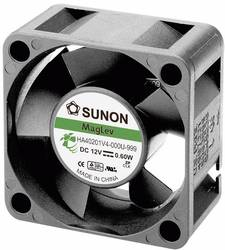 Aksial ventilator 12 V/DC 9.34 m³/h (L x B x H) 40 x 40 x 20 mm Sunon HA40201V4-0000-999