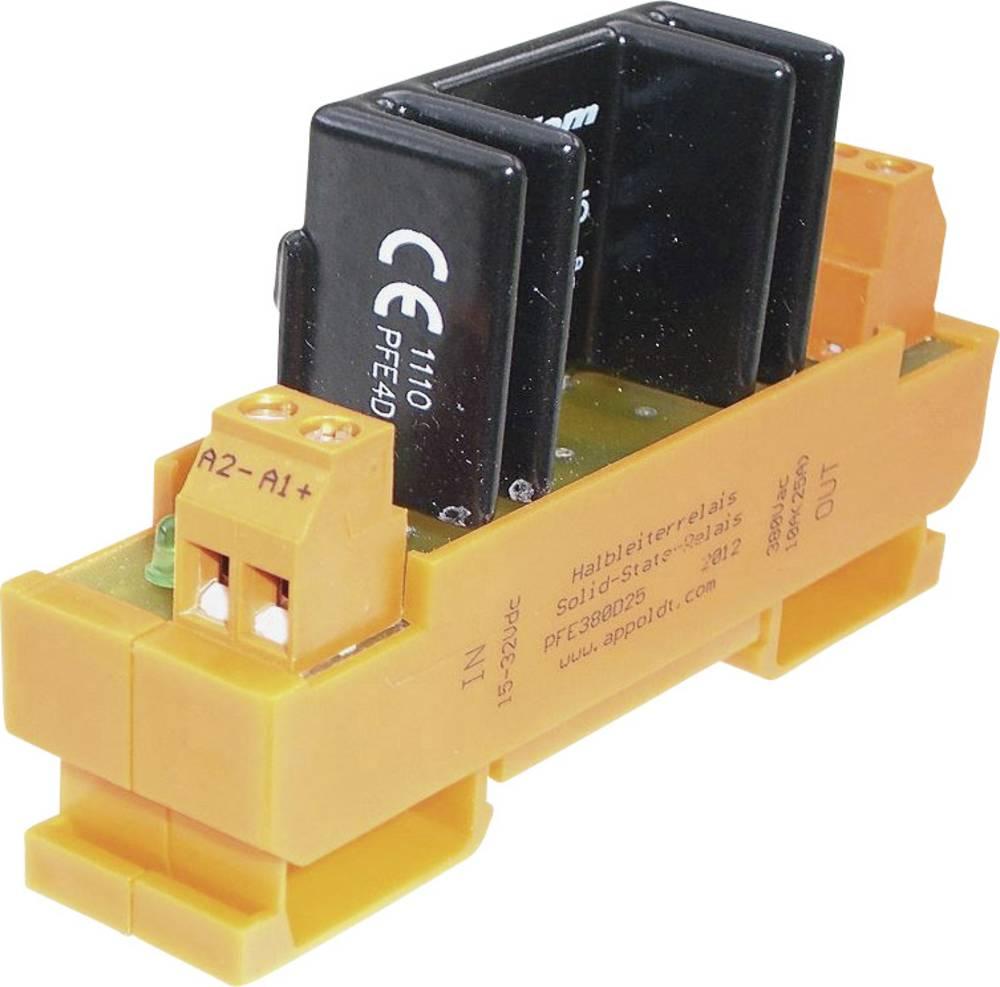 Halvlederrelæ 1 stk Appoldt PFE380D25 Last-Strøm (maks.): 10 A Koblingsspænding (max.): 32 V/DC