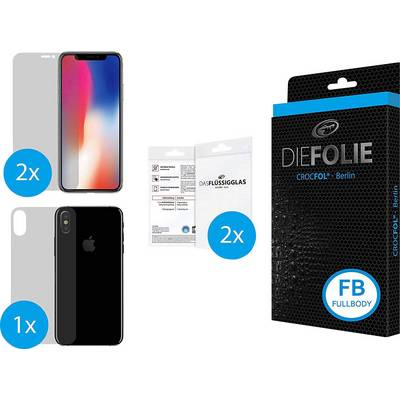 Image of Crocfol Die Folie Fullbody Film Compatible with: Apple iPhone X 1 Set