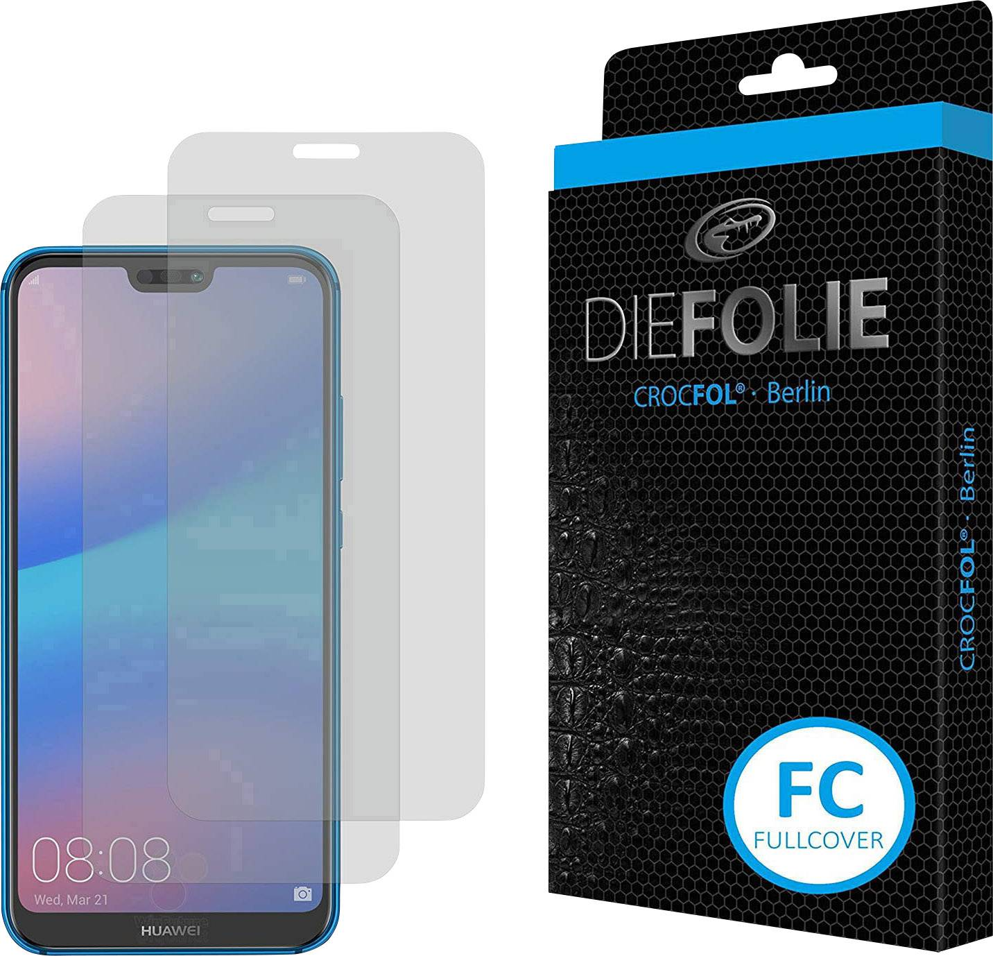 Crocfol Die Folie Fullcover Film Compatible With Huawei P20 Lite Conrad Com