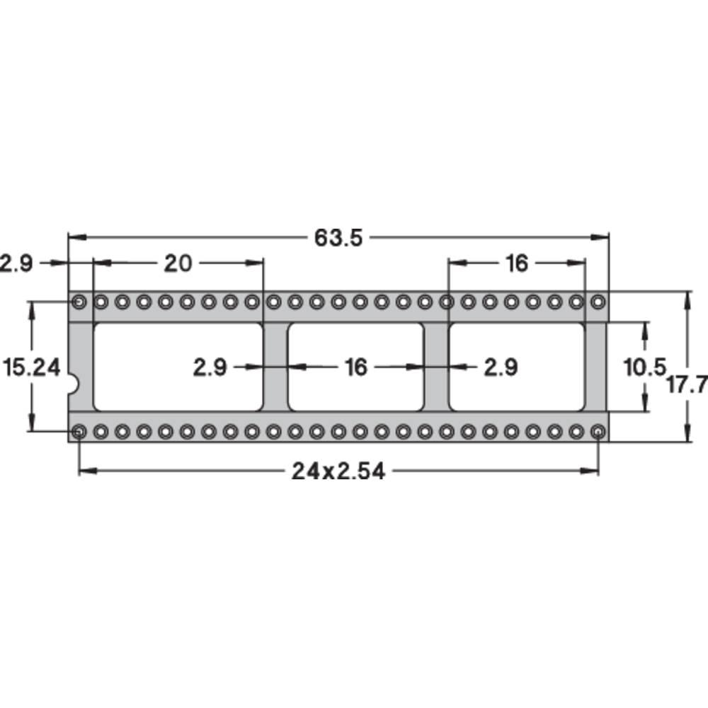 IC podnožje 15.24 mm št. polov: 50 Preci Dip 110-83-650-41-001101 natančni kontakti 1 kos