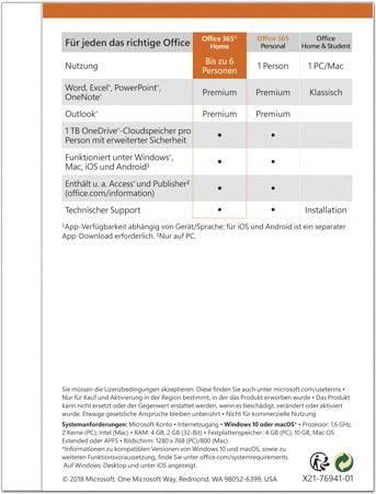 Microsoft Office 365 Home Full Version 6 Licenses Windows
