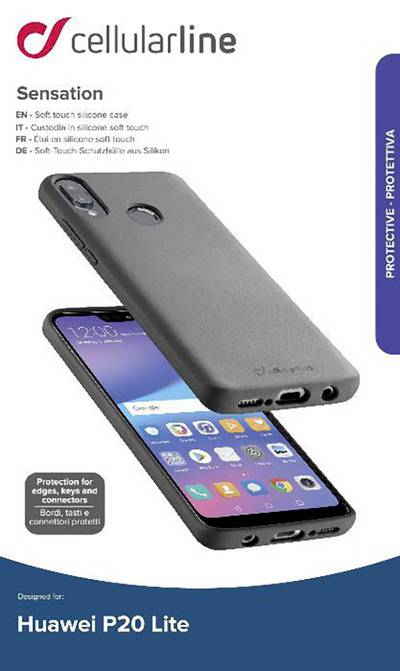 Search and compare best prices of Cellularline Sensation Back cover Compatible with (mobile phones): Huawei P20 Lite Black in UK