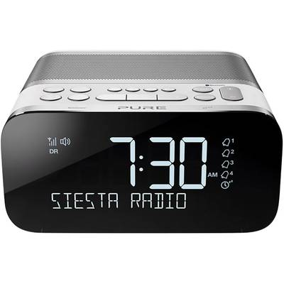 Pure Siesta S6 Radio alarm clock FM Bluetooth, USB Battery charger White
