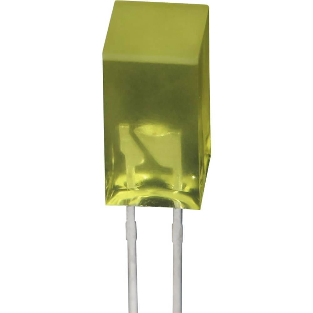 Ožičena LED dioda, rumena, kvadratna 5 x 5 mm 5 mcd 110 ° 20 mA 2.1 V SE6831