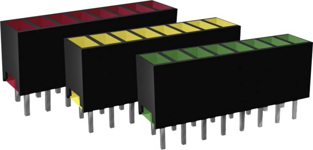 LED diode u nizu, 8-dijelne, žuta (D x Š x V) 20 x 7 x 4 mm Signal Construct ZAQS 0817