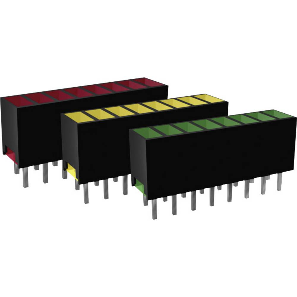 LED vrstne diode, 8-delne, zelena (D x Š x V) 20 x 7 x 4 mm Signal Construct ZAQS 0827