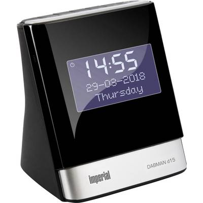 Image of Imperial DABMAN d15 Radio alarm clock DAB+, FM AUX, USB Battery charger Black