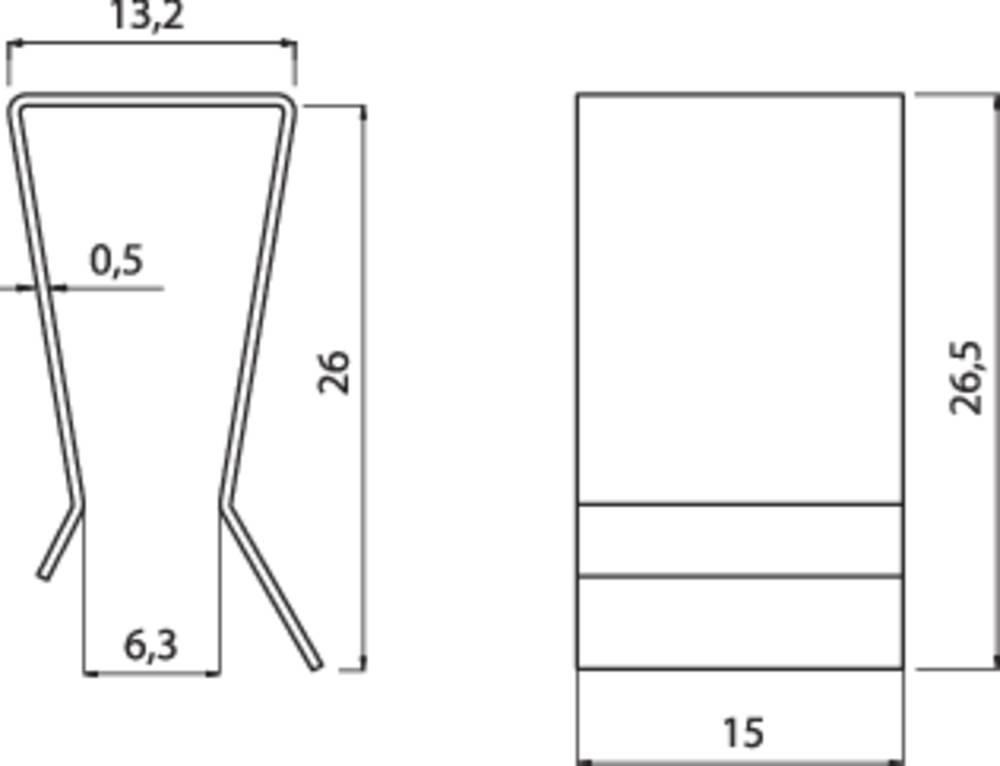 Hladilno telo s sponko za tranzistor Fischer Elektronik primerno za: TO-247, TO-218 (D x Š x V) 26.5 x 15 x 13.2 mm