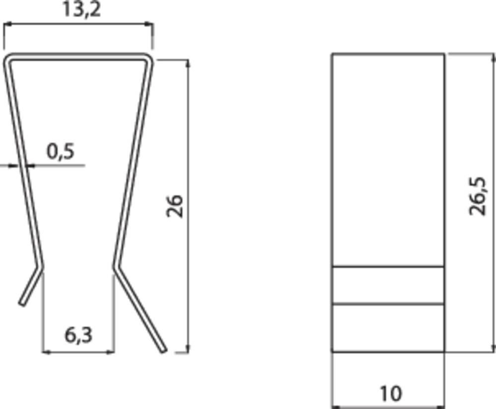 Transistor-klammer Fischer Elektronik THFA 2 Passer til: TO-220 (L x B x H) 26.5 x 10 x 13.2 mm