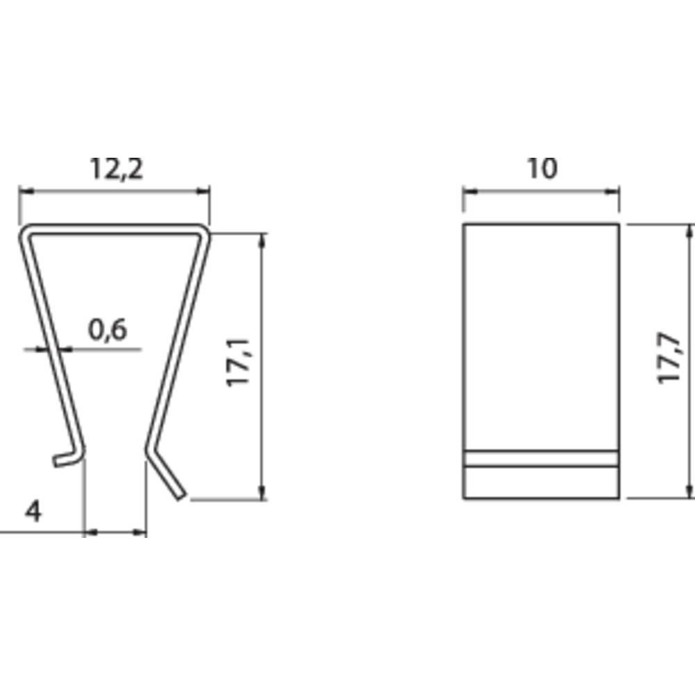 Hladilno telo s sponko za tranzistor Fischer Elektronik primerno za: TO-220 (D x Š x V) 17.7 x 10 x 12.2 mm