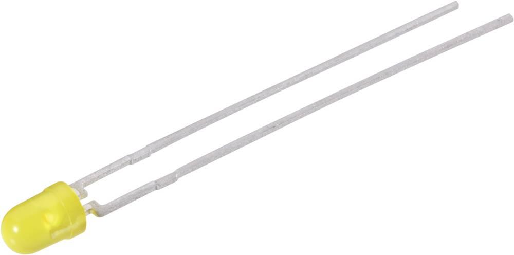LED med ledninger Vishay 3 mm 1.2 mcd 25 ° 2 mA 2.4 V Gul