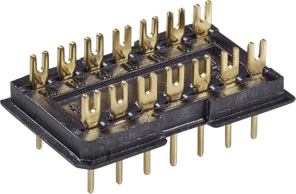 DIL-stik 1 stk DILS 16 GO Fischer Elektronik Poltal: 16 Rastermål: 2.5 mm (L x B x H) 22.6 x 12.5 x 7.6 mm