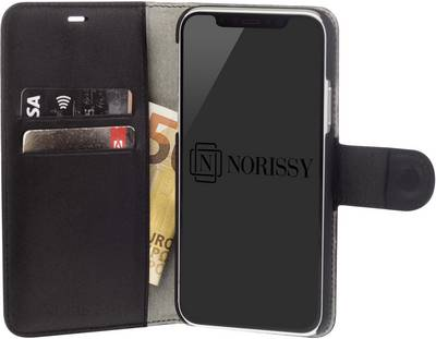 Image of Norissy LederBook One iPhone bag/pouch Compatible with (mobile phones): Apple iPhone 7, Apple iPhone 8, Black