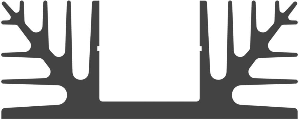 Hladilno telo 1.8 K/W (D x Š x V) 75 x 88 x 35 mm Fischer Elektronik SK 08 75 SA