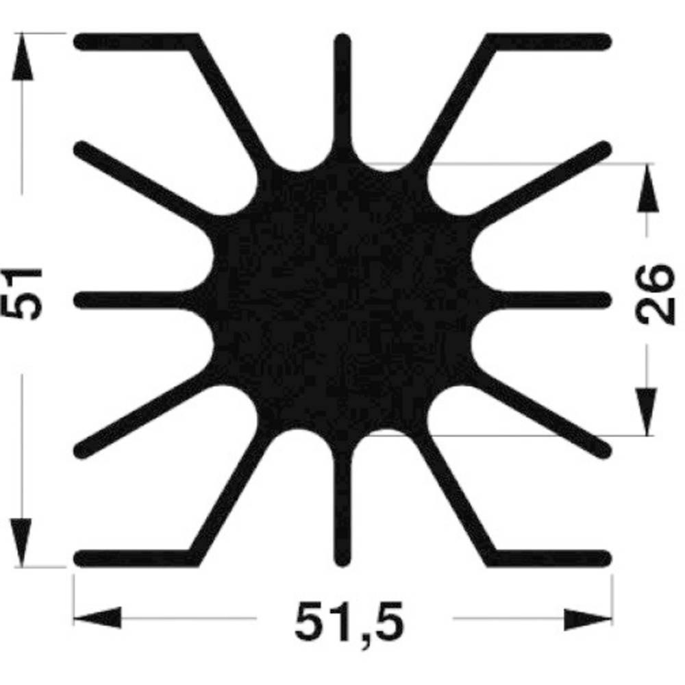 LED hladilno telo 2.76 K/W (D x Š x V) 51 x 51 x 10 mm Fischer Elektronik SK 46 10 ME