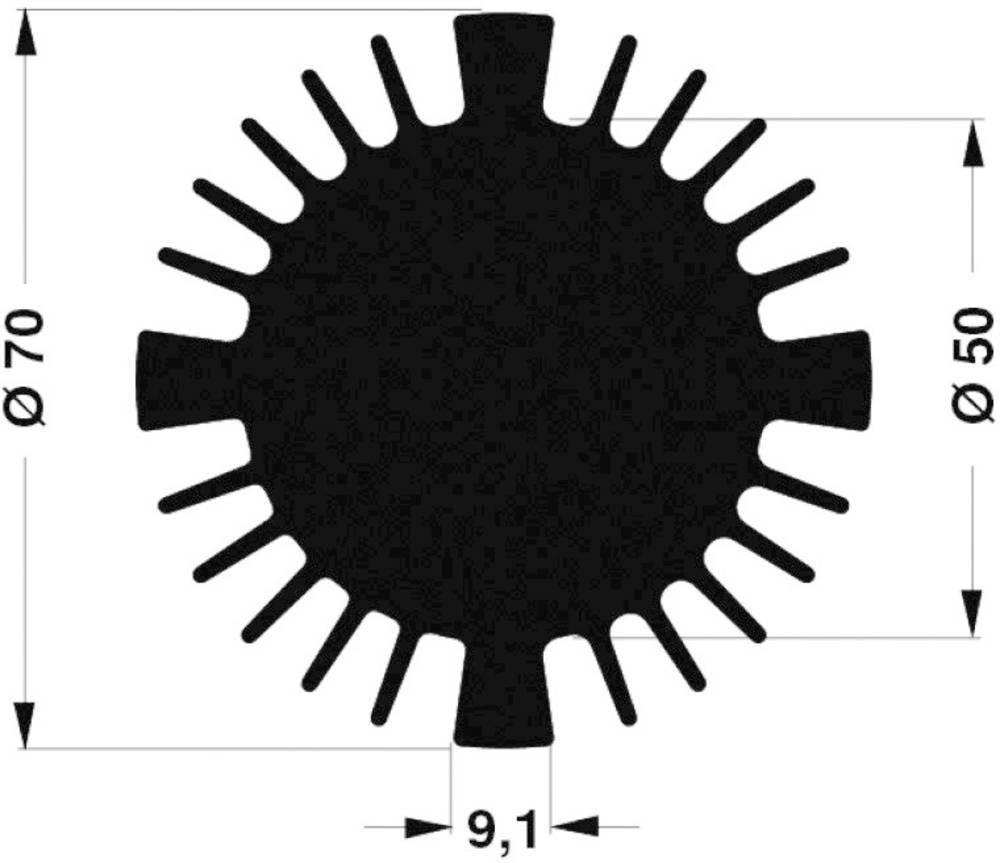 LED hladilno telo 1.77 K/W (premer x V) 70 mm x 25 mm Fischer Elektronik SK 570 25 SA