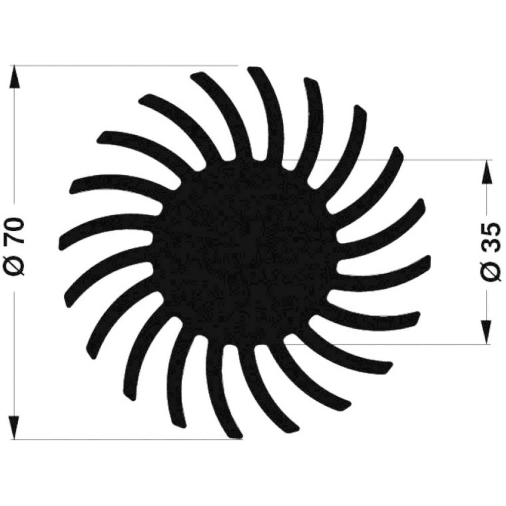LED hladilno telo 2.45 K/W (premer x V) 70 mm x 10 mm Fischer Elektronik SK 571 10 SA