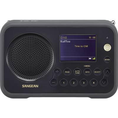 Sangean DPR-76 Portable radio DAB+, FM rechargeable Black