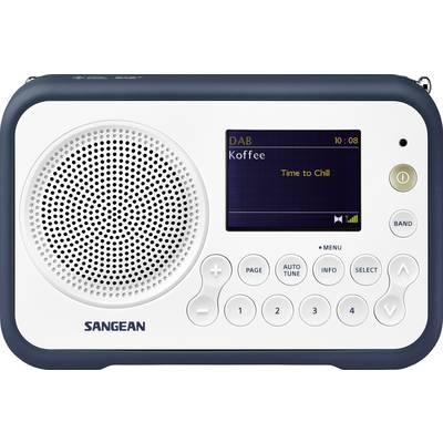Sangean DPR-76 DAB+ Portable radio FM rechargeable White, Blue