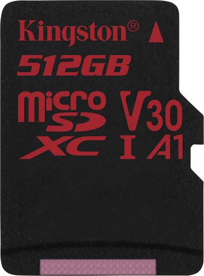 Image of Kingston Canvas React microSDXC card 512 GB Class 10, UHS-I, Class 3 UHS-I , v30 Video Speed Class