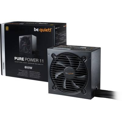 Image of Be Quiet! 600W Pure Power 11 PSU Fully Wired Rifle Bearing Fan 80 Gold UK Plug