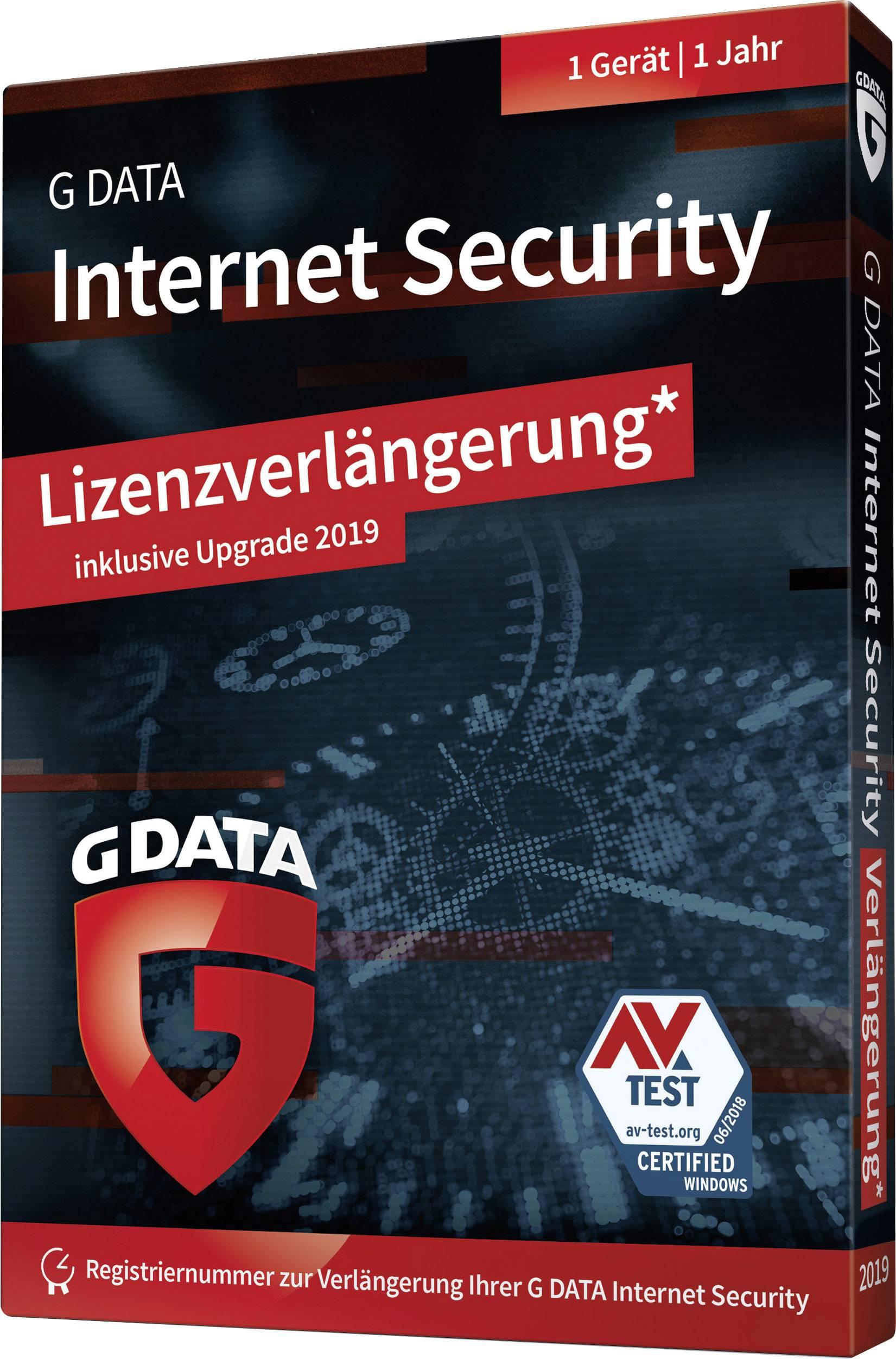 G-Data Internet Security 2019 Upgrade, 1 license Windows Antivirus