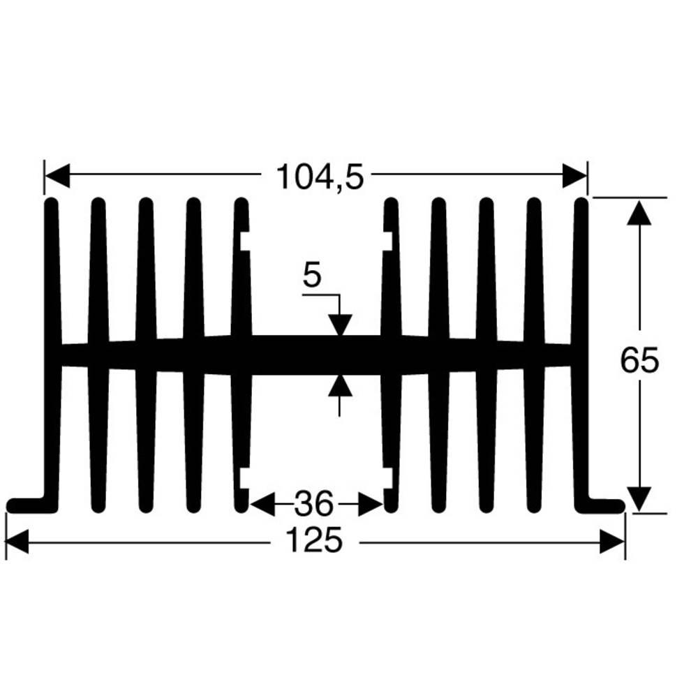 Profilno hladilno telo 1.1 K/W (D x Š x V) 75 x 125 x 65 mm Fischer Elektronik SK 34 75 SA