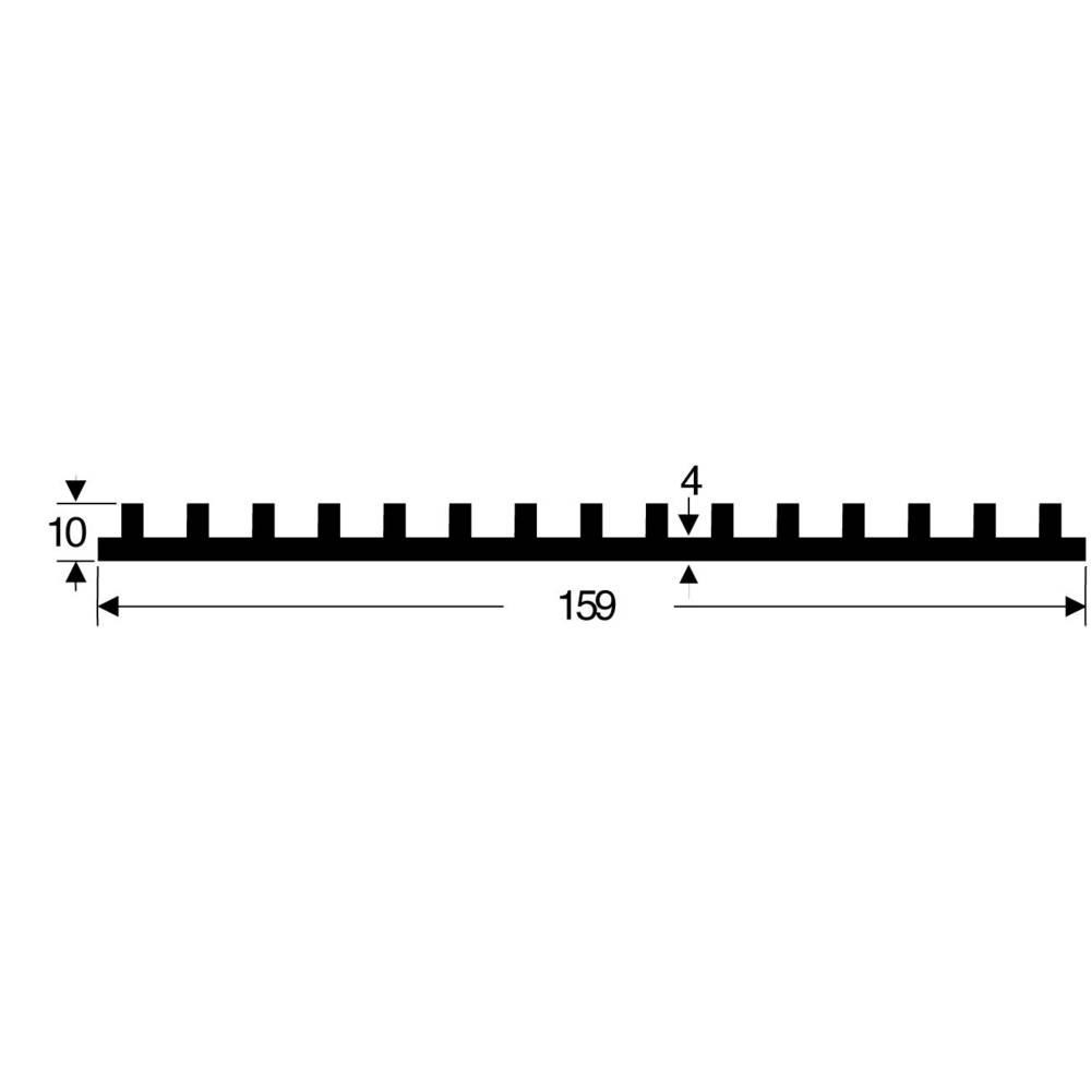 Profilkølelegeme 2.5 K/W (L x B x H) 159 x 100 x 10 mm Fischer Elektronik SK 105 100 SA