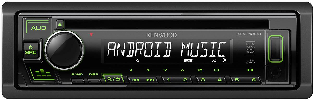Kenwood KDC-130UG car media receiver Black
