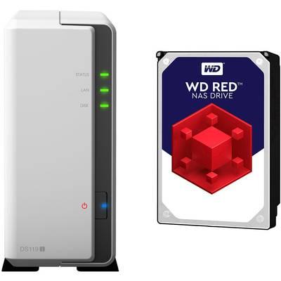 Synology DiskStation DS119J-4TB-RED NAS server 4 TB 1 Bay built-in Western Digital RED