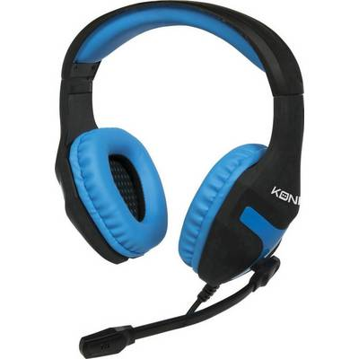 Konix Gaming headset 3.5 mm jack Corded Over-the-ear Black, Blue