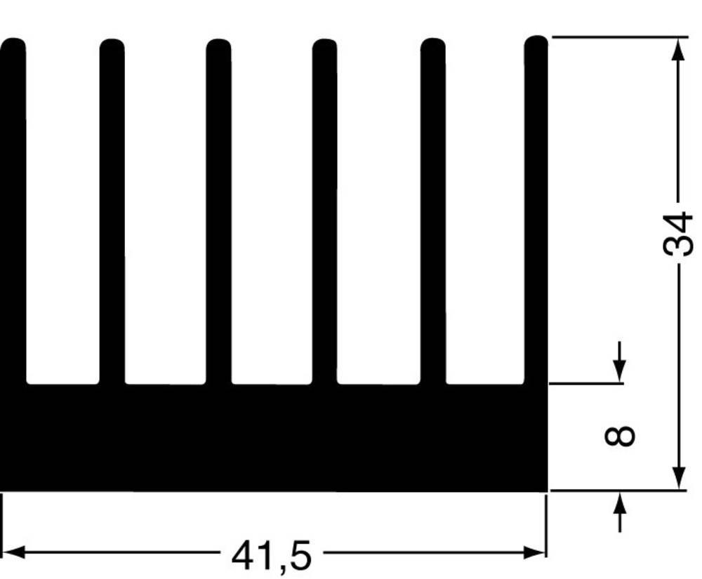 Profilkølelegeme 2.8 K/W (L x B x H) 100 x 41.5 x 34 mm Fischer Elektronik SK 189 100 SA