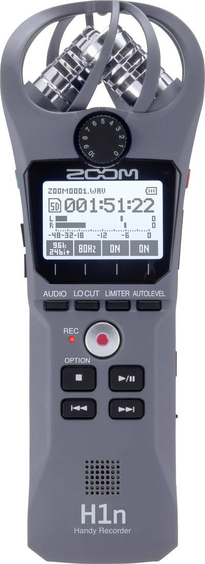 Portable audio recorder Zoom H1n Grey