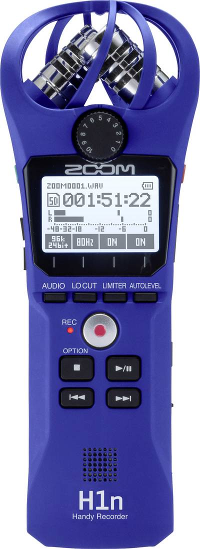 Portable audio recorder Zoom H1n Blue