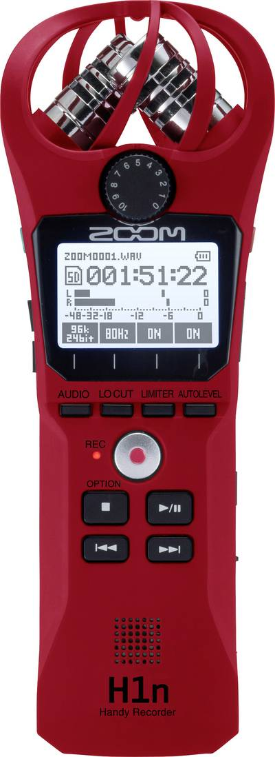 Portable audio recorder Zoom H1n Red