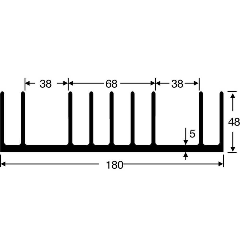 Hladilno telo 0.65 K/W (D x Š x V) 100 x 180 x 48 mm Fischer Elektronik SK 53 100 SA