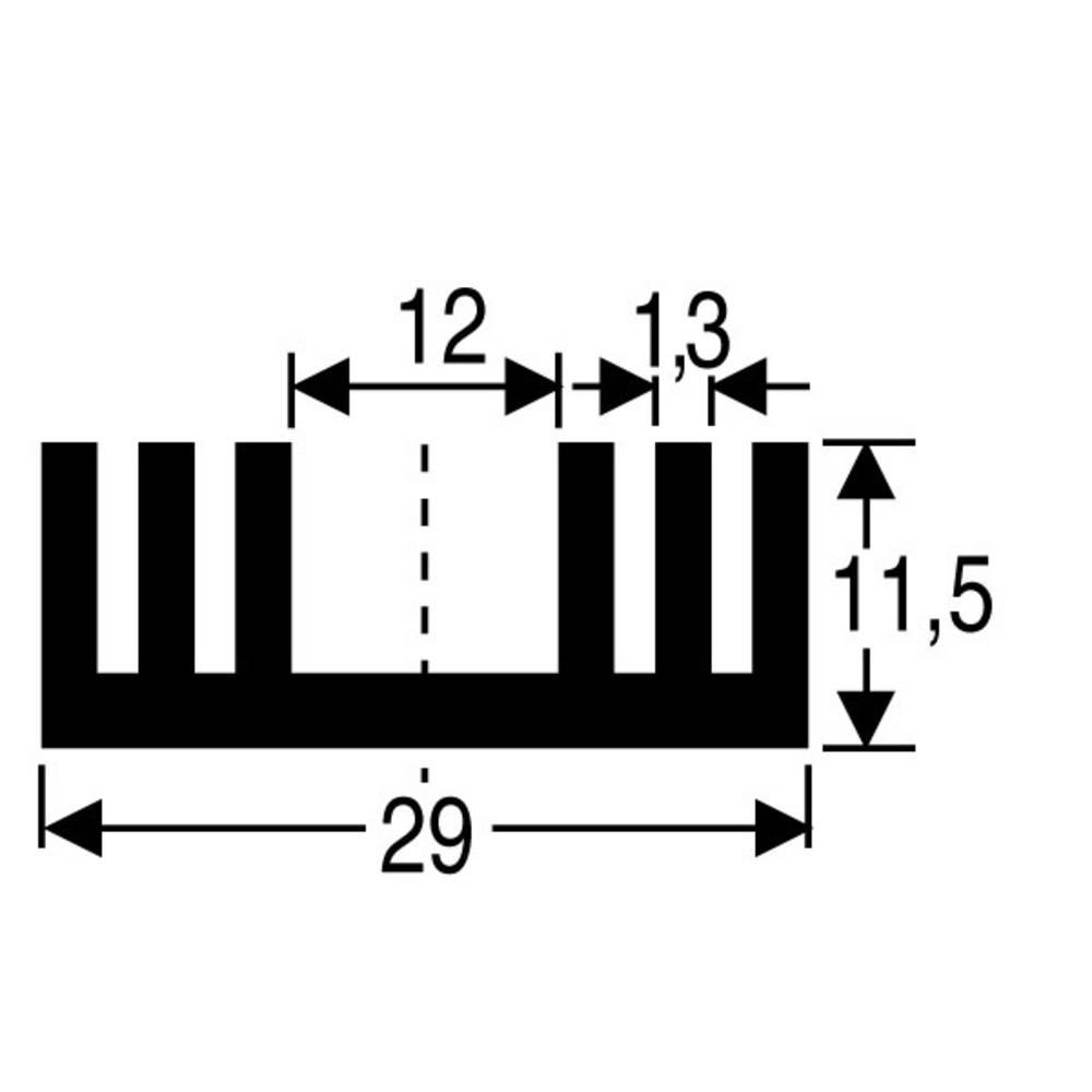 Hladilno telo 7.2 K/W (D x Š x V) 50 x 29 x 11.5 mm TO-220, SOT-32 Fischer Elektronik SK 09 50 SA