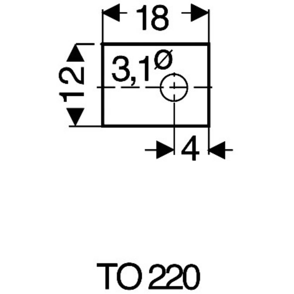 Sljudna ploščica (D x Š) 18 mm x 12 mm primerna za TO-220 Fischer Elektronik GS 220 P 1 kos