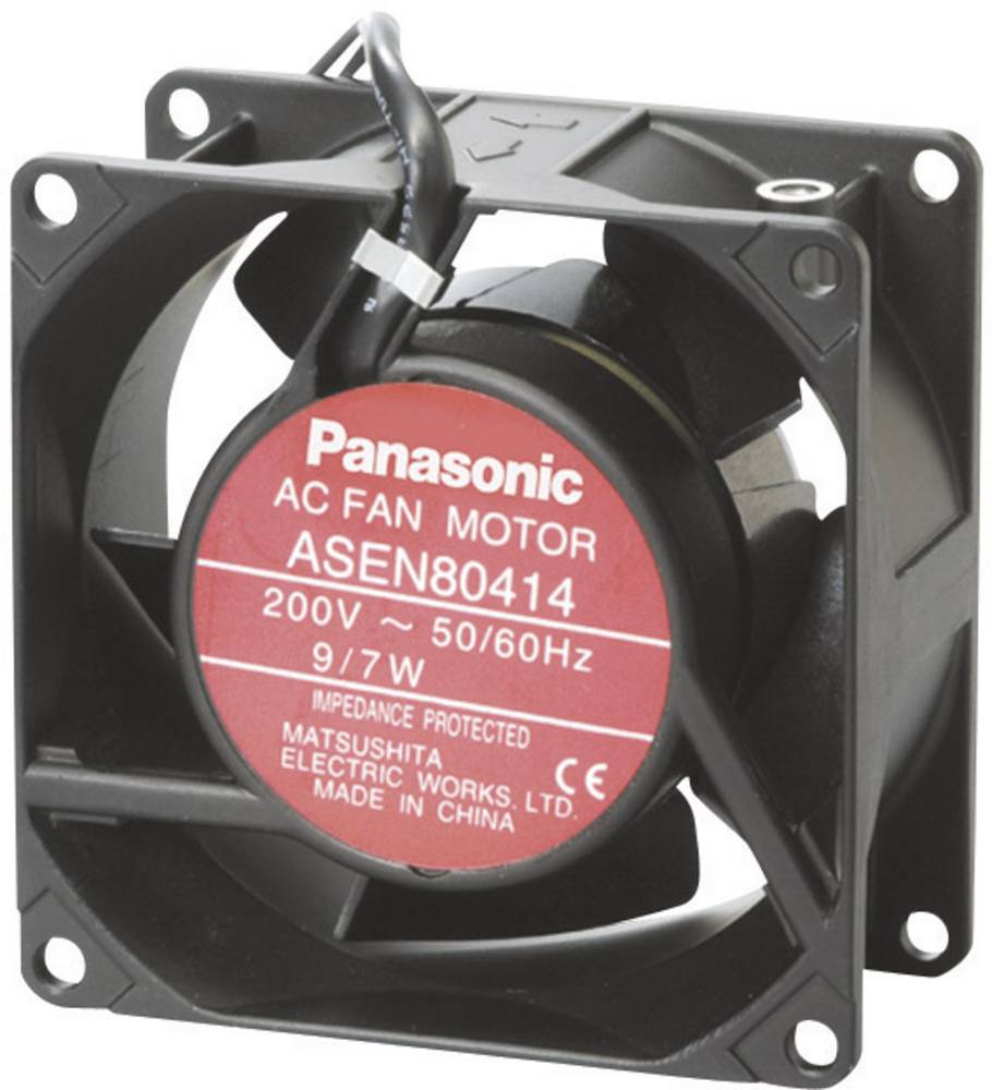 Aksial ventilator 230 V/AC 55 m³/h (L x B x H) 80 x 80 x 25 mm Panasonic ASEN80216