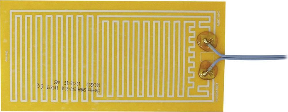 Polyester Varmefolie selvklæbende 24 V/DC, 24 V/AC 20 W Beskyttelsestype IPX4 (L x B) 200 mm x 100 mm Thermo