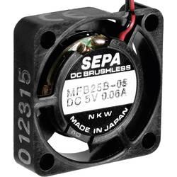 Aksial ventilator 5 V/DC 23 l/min (L x B x H) 25 x 25 x 6.5 mm SEPA MFB25B05